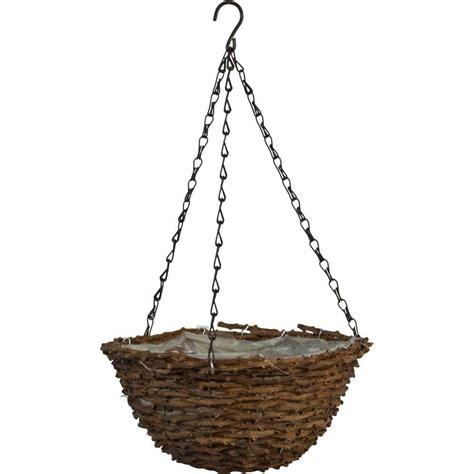 Pride Garden Products 12 In Round Vine Coconut Fiber Hanging Basket Planters