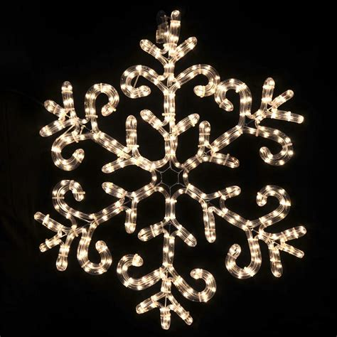 festive christmas mains voltage clear rope light snowflake