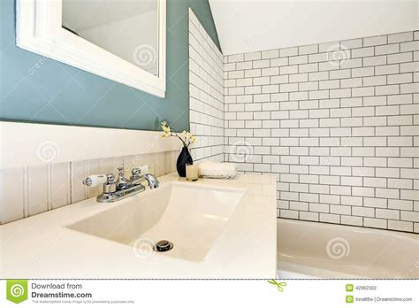 Bathroom Floor Plans With Tub And Shower aqua bathroom with white tile wall trim stock photo