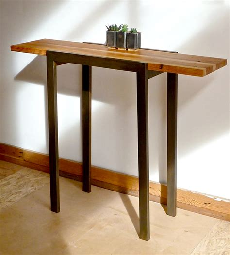 reclaimed wood entry table reclaimed wood industrial entry table home furniture