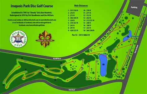 kentucky golf map hod 7 26 2013 iroquois park in louisville ky disc golf