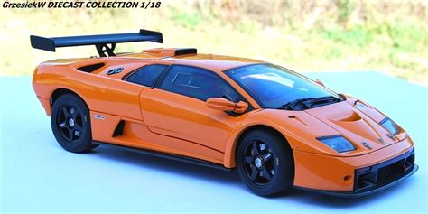 Lamborghini Diablo Orange Lamborghini Diablo Gtr Orange Autoart No 74523
