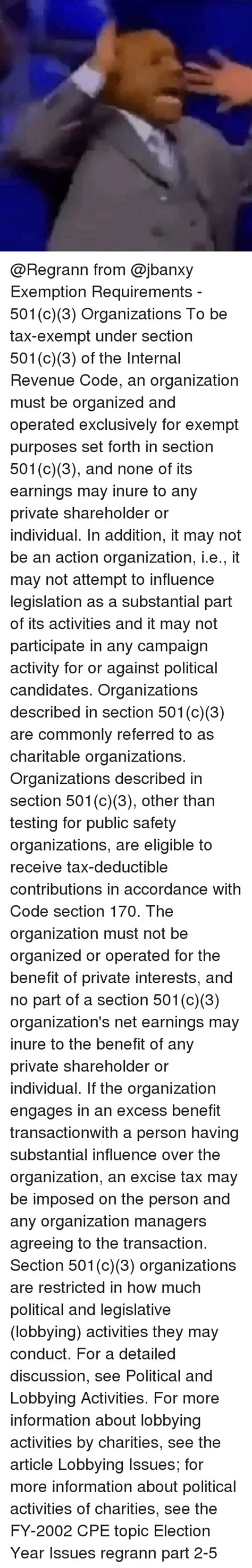 section 501 c exemption requirements section 501c3 organizations autos