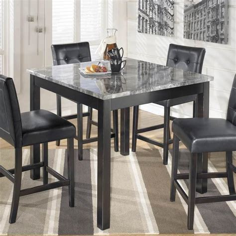 Counter Height Table And Stools Set by Maysville Square Counter Height Dining Table And Stools Set