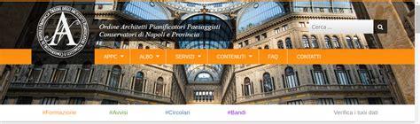 Architetti A Napoli by Best La Homepage Sito Delluordine Degli Architetti Di