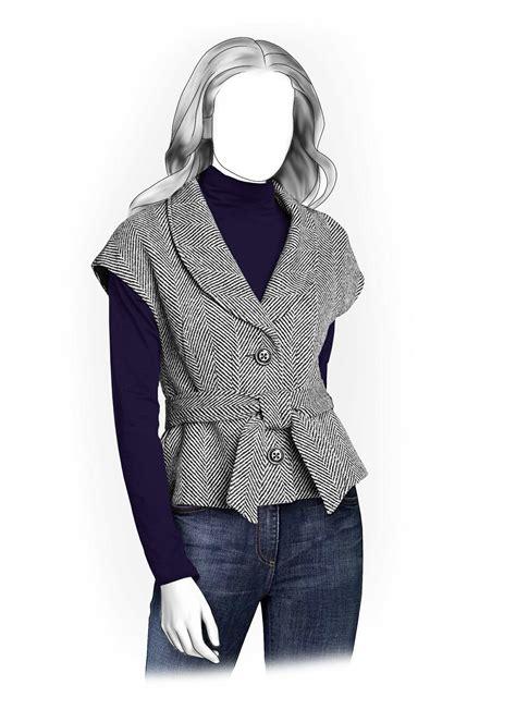 pattern sewing jacket sleeveless jacket sewing pattern 5915 made to measure
