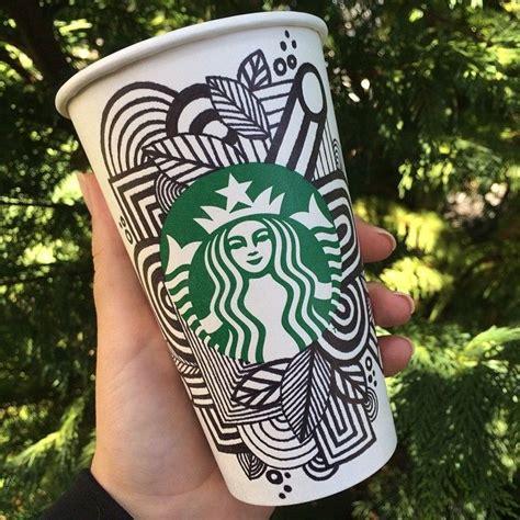 starbucks doodle travel mug sharpie line doodle on a starbucks cup doodles