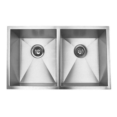 32 inch stainless steel sink 32 inch stainless steel undermount 50 50 bowl