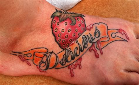 strawberry tattoo designs fruit tattoos