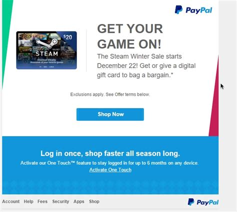 Turn Gift Cards Into Paypal - leak reveals that the steam winter sale begins next week