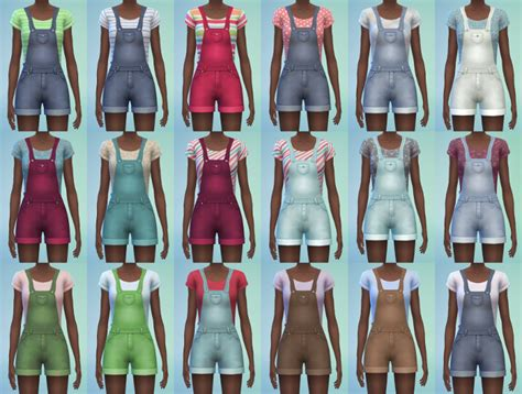 sims 4 overall shorts my sims 4 blog short overalls for teen elder females by