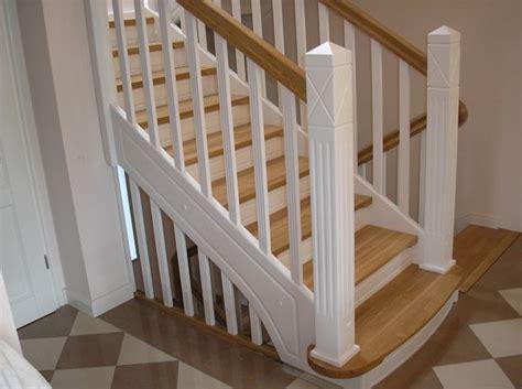 offene treppe dekor - Weiße Holztreppe