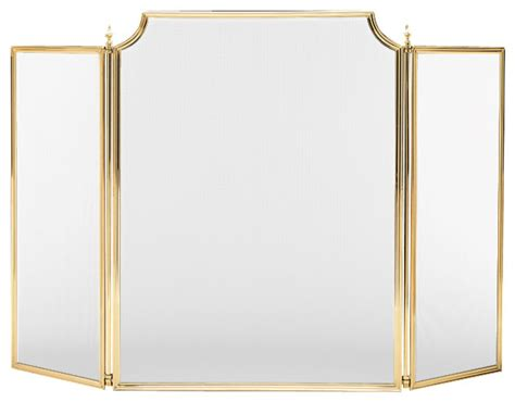 Solid Brass Fireplace Screen solid brass fireplace screen small 573 traditional