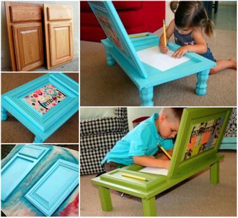 kids art desk diy wonderful diy cupboard door art desk for kids