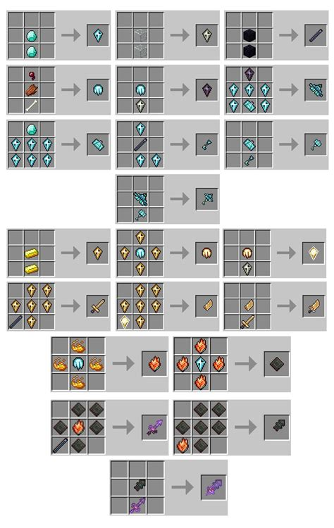 crafting for gods weapons mod for minecraft 1 7 10