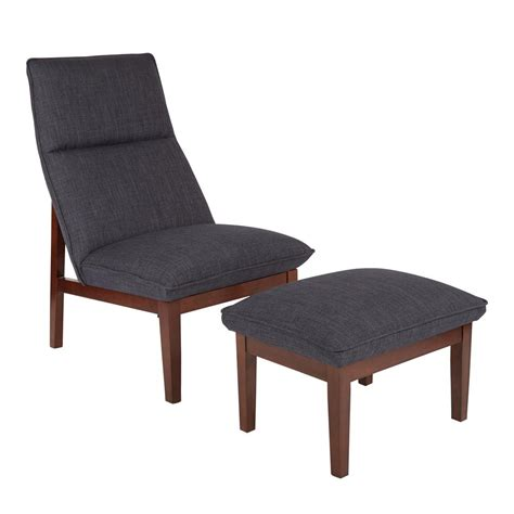 Navy Chair And Ottoman Ave Six Cameron Navy Chair And Ottoman Cen72 M19 The Home Depot