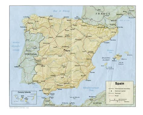 map of spain spain maps perry casta 241 eda map collection ut library
