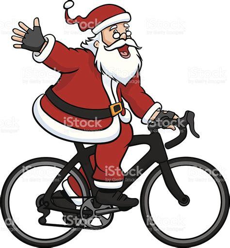 imagenes de santa claus en bicicleta santa claus riding a road bike stock vector art more