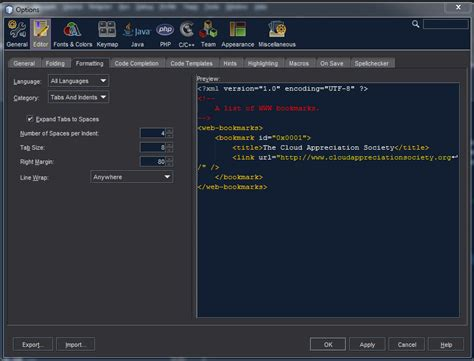 theme editor netbeans netbeans 7 0 1 word wrap stack overflow