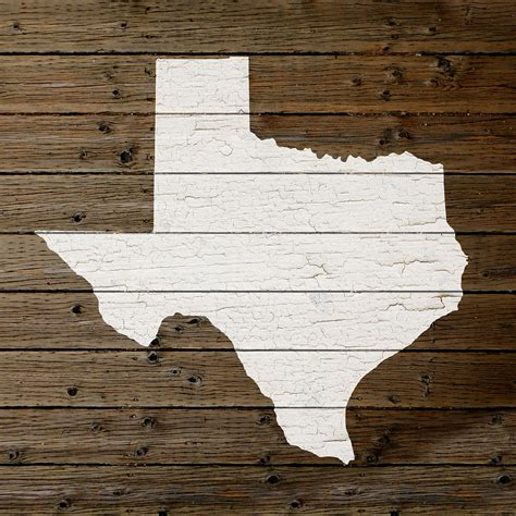 woodworking tx map of state outline white distressed paint on