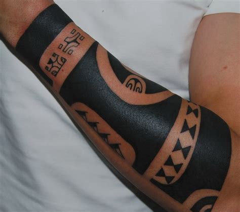 colored tribal sleeve tattoos harsh tribal black colored sleeve for on