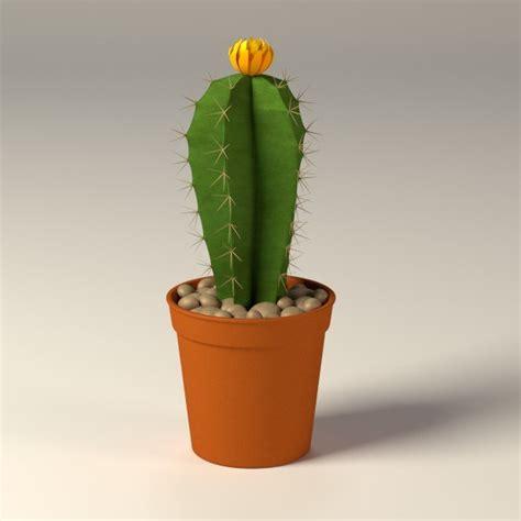 cactus pots cactus pot 3d model