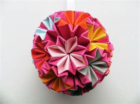 Origami Bauble - paper origami bauble hanging ornament by