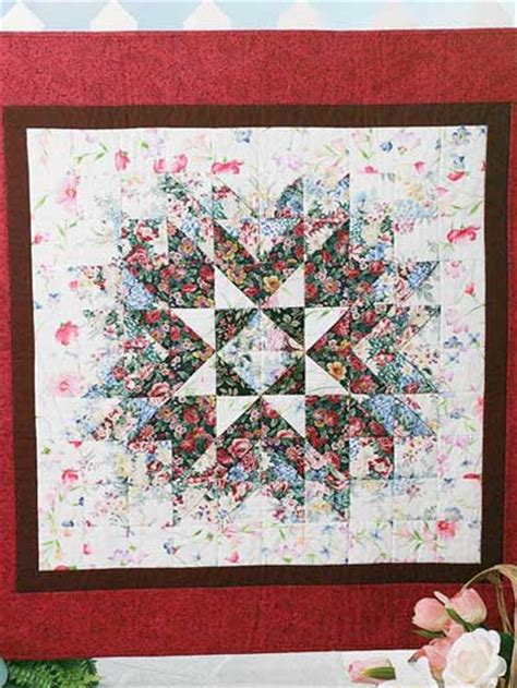 quilting wall quilts floral starburst quilt