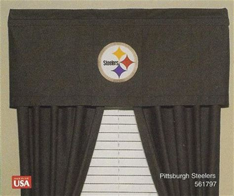 pittsburgh steelers curtains steelers valances pittsburgh steelers valance steelers