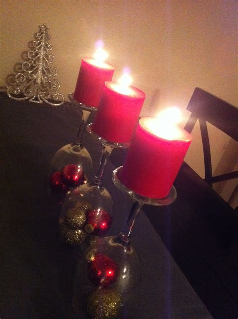wine glass candles centerpiece the johnsons