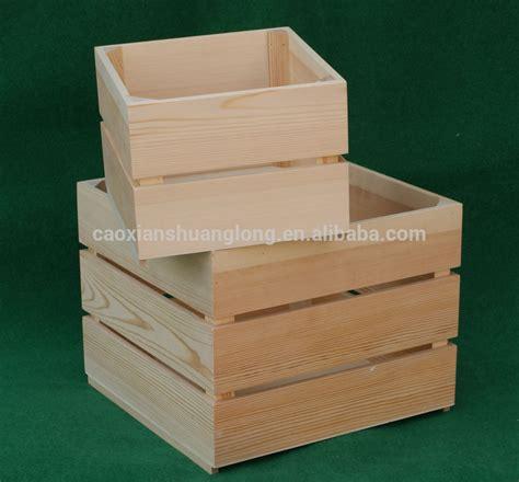 produzione cassette legno legno di pino grezzo casse di vino di legno a buon mercato
