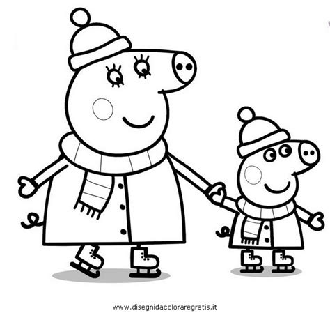 peppa pig winter coloring pages free coloring pages of chloe pig