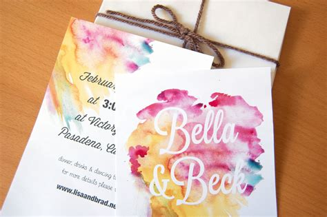 Wedding Invitations Watercolor by Gorgeous Watercolor Wedding Finds Invitations