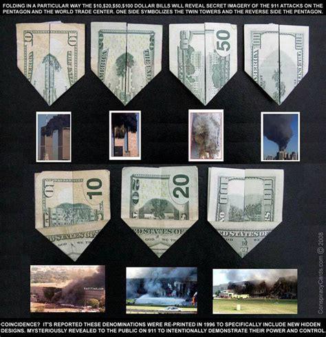 Us Dollar Origami - 9 11 prediction us dollar origami illuminati symbols
