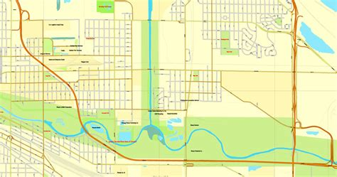 map us chicago chicago illinois us vector map adobe illustrator