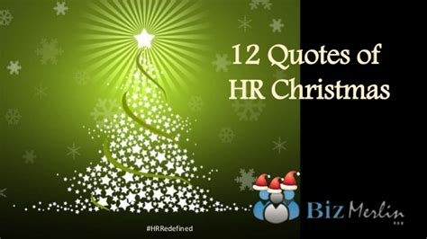 12 quotes of hr christmas