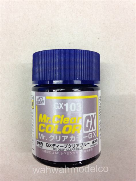 Mr Color Gx101 Clear Black Mr Hobby Lacquer Paint mr hobby gx103 mr clear color blue