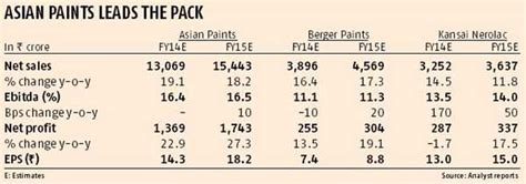 paint firms prices reflect strong prospects business standard news