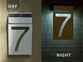 solar lighted house numbers lighted house number post images