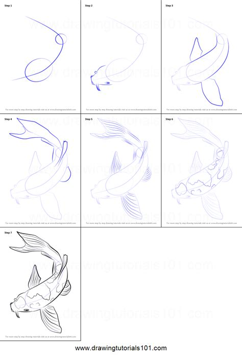 doodle drawing tutorials how to draw a koi fish printable step by step drawing
