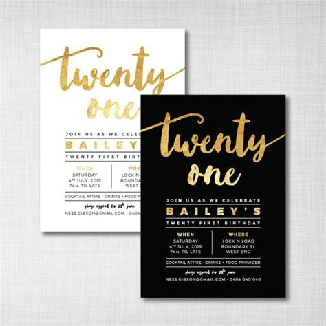 21st Invites Templates 25 best ideas about 21st birthday invitations on