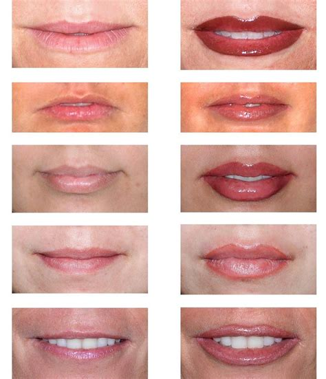 tattooed lipstick before after permanent lip makeup more makeup