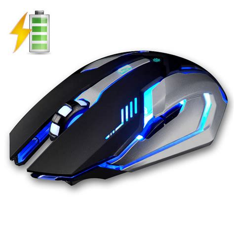 Mouse X7 Wireless x7 2 4ghz wireless rechargeable led backlit mouse usb