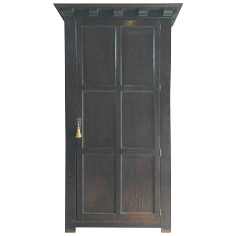 Single Door Armoire Wardrobe by Antique Single Wardrobe Armoire One Door Oak 19th Century