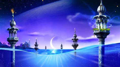 wallpaper bulan biru lunas en el mar fondos hd