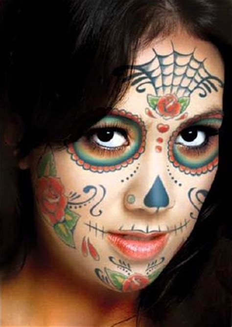 sugar face tattoo designs day of the dead sugar skull temporary kit 1
