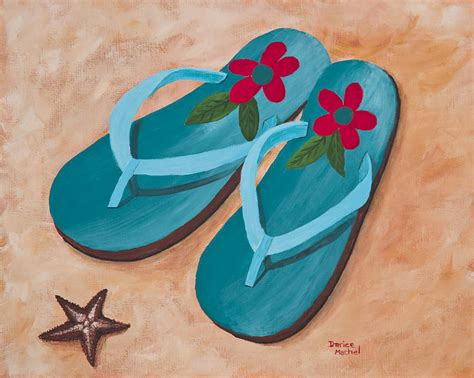 sandals and beaches sandals 2 painting by darice machel mcguire