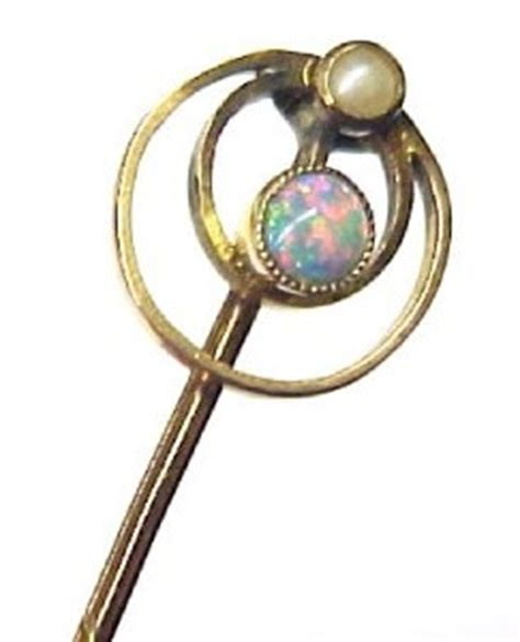 Sided Enamel And Pearl On Golden Stick Import 17 best images about 20th c jewelry on