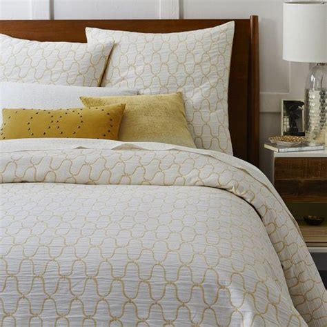 Organic Duvet Covers organic bristol matelasse white and yellow duvet cover and shams