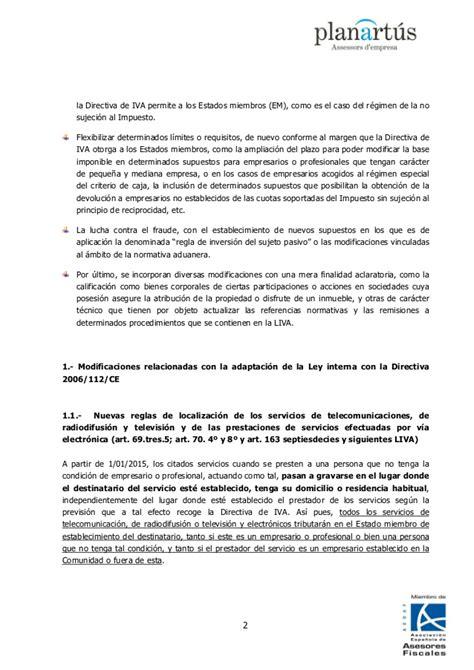 ley 381992 de 28 de diciembre de impuestos especiales circular 6 14 iva anteproyecto de ley de reforma